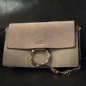Grey Chloé Faye Handbag